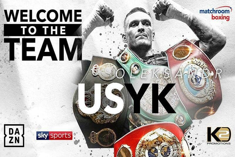Cruiserweight king Oleksandr Usyk signs deal with Matchroom Boxing