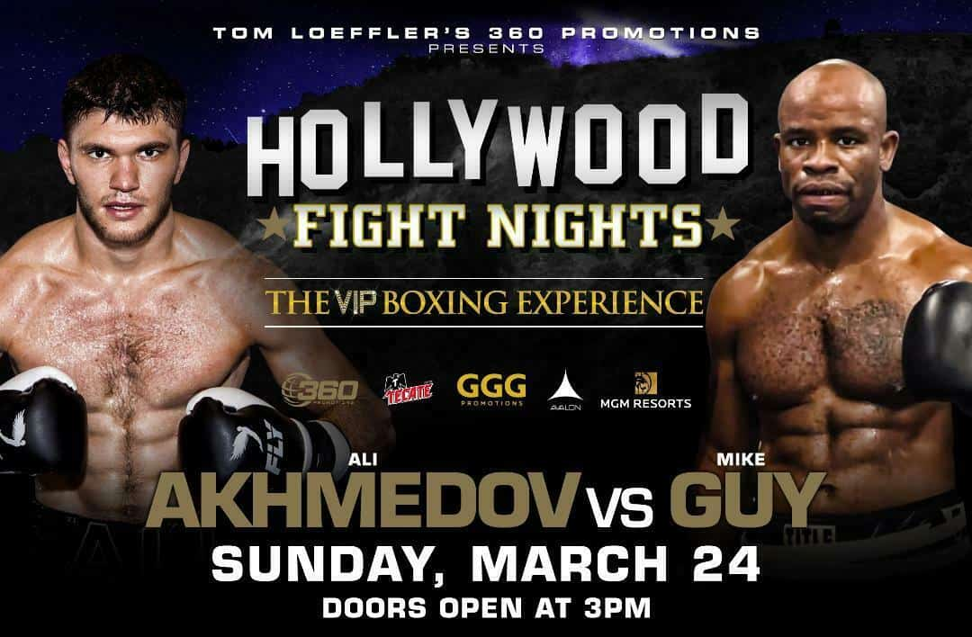 Ali Akhmedov, Mario Ramos feature on March 24 Hollywood Fight Nights