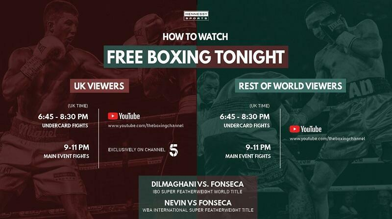 Dilmaghani vs Fonseca: How to watch FREE LIVE boxing on UK